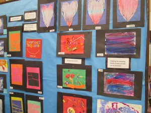 Our ART show - our favorite artists- Monet, Rothko, Renee Magritte and Picasso.